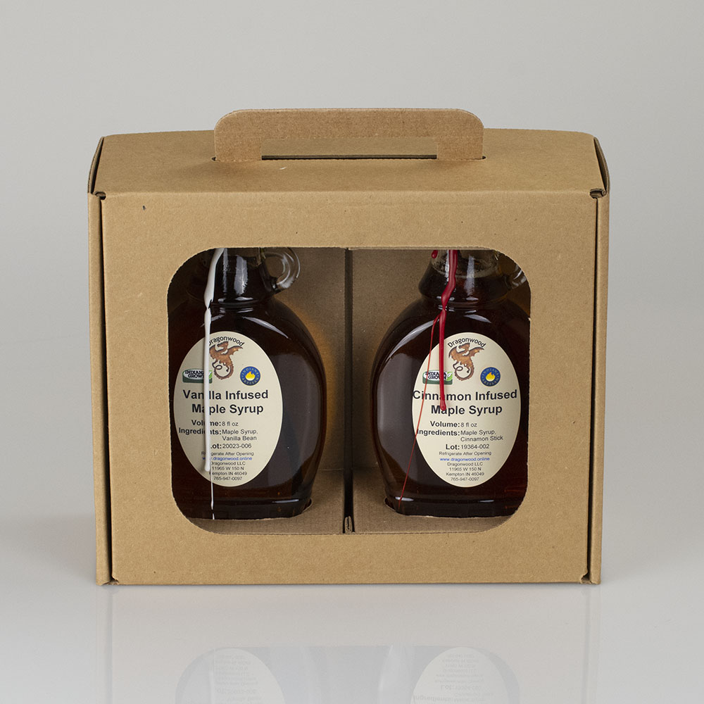 Vanilla And Cinnamon Infused Maple Syrup Gift Box