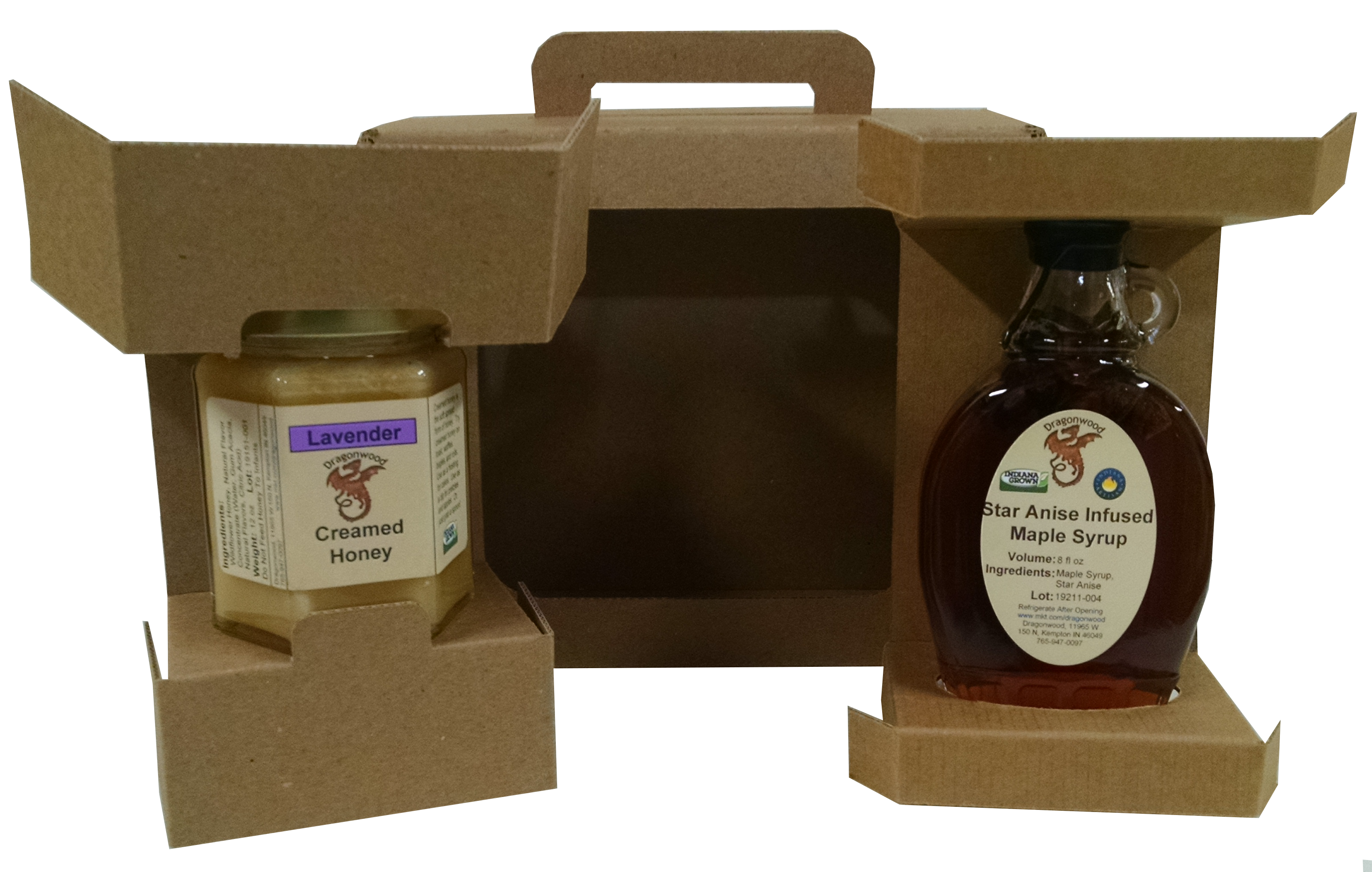Dragonwood's Custom Gift Box contains two products of your choice